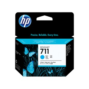 HP 711 CYAN PACK 3 CARTUCHOS ORIGINALES PERTENENCIENTE A LA REFERENCIA HP 711 Tinteiros