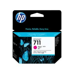 HP 711 MAGENTA PACK 3 CARTUCHOS ORIGINALES PERTENENCIENTE A LA REFERENCIA HP 711 Tinteiros