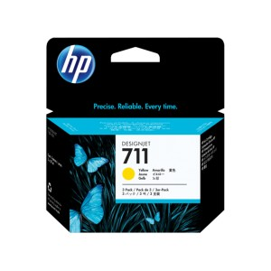 HP 711 AMARILLO PACK 3 CARTUCHOS ORIGINALES PARA LA IMPRESORA Hp Designjet T520 Tinteiros