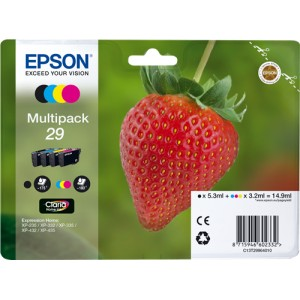 Epson 29 pack colores, cartuchos de tinta original PARA LA IMPRESORA Epson Expression Home XP-435 Tinteiros