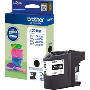 Brother LC221 negro cartucho de tinta original  PARA LA IMPRESORA Brother DCP-J562DW Tinteiros