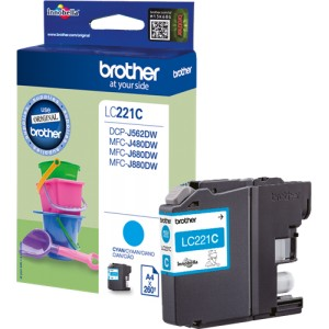 Brother LC221 cyan cartucho de tinta original PARA LA IMPRESORA Brother DCP-J562DW Tinteiros