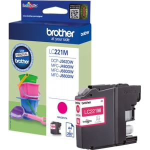 Brother LC221 magenta cartucho de tinta original PARA LA IMPRESORA Brother DCP-J562DW Tinteiros