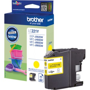 Brother LC221 amarillo cartucho de tinta original PARA LA IMPRESORA Brother DCP-J562DW Tinteiros