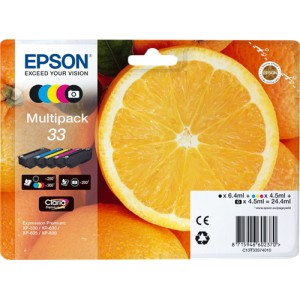Epson 33 pack colores, cartuchos de tinta original PARA LA IMPRESORA Epson Expression Premium XP-645 Tinteiros