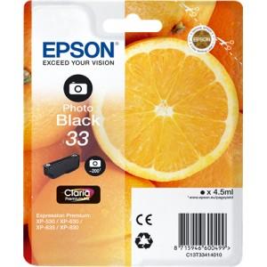 Epson 33 Photo Negro, Cartucho de tinta original PARA LA IMPRESORA Epson Expression Premium XP-645 Tinteiros