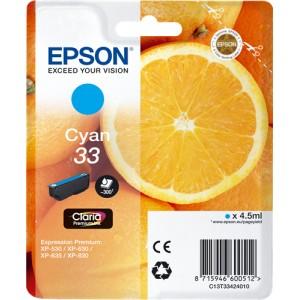 Epson 33 Cyan, Cartucho de tinta original  PARA LA IMPRESORA Epson Expression Premium XP-645 Tinteiros