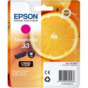 Epson 33 Magenta, Cartucho de tinta original PARA LA IMPRESORA Epson Expression Premium XP-645 Tinteiros