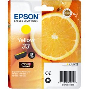 Epson 33 Amarillo, Cartucho de tinta original PARA LA IMPRESORA Epson Expression Premium XP-645 Tinteiros