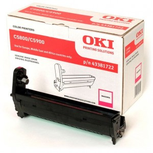 TAMBOR ORIGINAL MAGENTA OKI C5550 / C5800 / C5900  PERTENENCIENTE A LA REFERENCIA OKI C5550 Toner