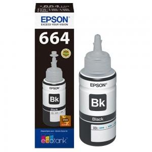 EPSON T6641 NEGRO BOTELLA DE TINTA ORIGINAL (C13T66414A) PARA LA IMPRESORA      Referencias EPSON