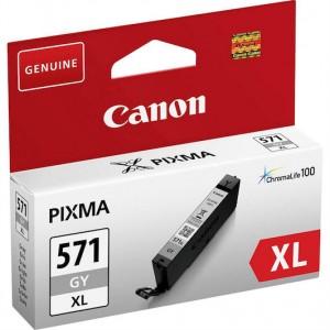 Cartucho de tinta original Canon CLI-571 Gris Alta Capacidad.  PARA LA IMPRESORA Canon Pixma MG7753 Tinteiros
