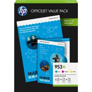 Hp 953xl Multipack (cyan, magenta y amarillo) Original PARA LA IMPRESORA HP Officejet Pro 8730 Tinteiros