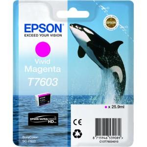 Cartucho de tinta original Epson T7603 magenta (vivid) PERTENENCIENTE A LA REFERENCIA Epson T7601/2/3/4/5/6/7/8/9 Tinteiros