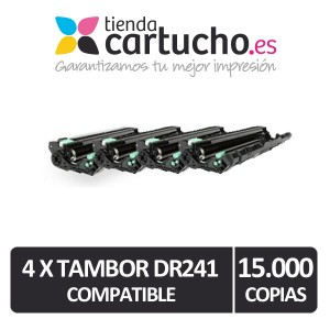 Pack 4 tambores Brother DR-241 Compatibles PARA LA IMPRESORA Brother HL-3170CDW Toner