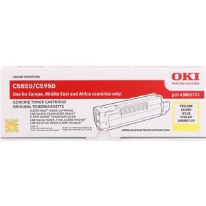 Toner OKI C5850 Amarillo Original PERTENENCIENTE A LA REFERENCIA OKI C5850 C5950 Toner