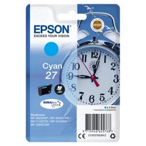 Epson 27 Cyan. T2702 Cartucho de Tinta Original PARA LA IMPRESORA Epson WorkForce WF-7110DTW Tinteiros