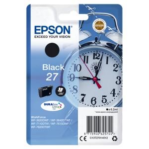 Epson 27 Negro. T2701 Cartucho de Tinta Original PARA LA IMPRESORA Epson WorkForce WF-7110DTW Tinteiros