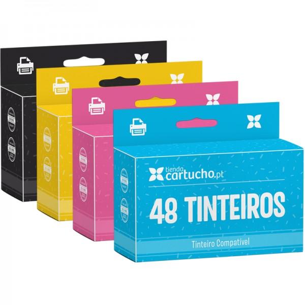 PACK 48 (ESCOLHER CORES) TINTEIROS COMPATÍVEIS HP 363