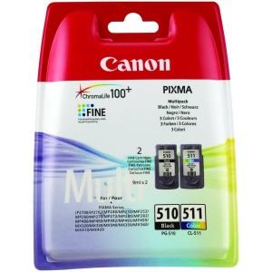 PACK CANON 510+511 ORIGINAL PARA LA IMPRESORA Canon Pixma MP250 Tinteiros