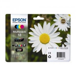 ORIGINAL EPSON 18 MULTIPACK, para impresoras Expression Home XP-102, XP-202, XP-205, XP-30, XP-302 PARA LA IMPRESORA Epson Expression Home XP-415 Tinteiros