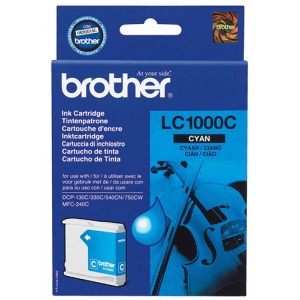 Brother LC-1000 cian cartucho de tinta original. PARA LA IMPRESORA Brother DCP-330C Tinteiros