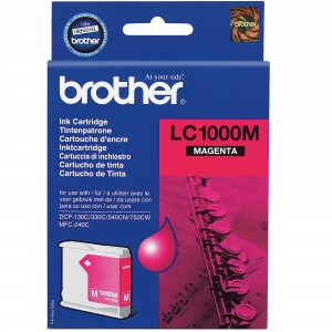 Brother LC-1000 magenta cartucho de tinta original. PARA LA IMPRESORA Brother DCP-330C Tinteiros