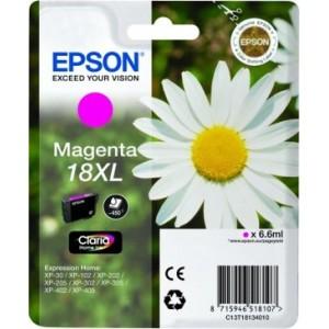 ORIGINAL EPSON 18XL MAGENTA, para impresoras Expression Home XP-102, XP-202, XP-205, XP-30, XP-302 PARA LA IMPRESORA Epson Expression Home XP-405WH Tinteiros