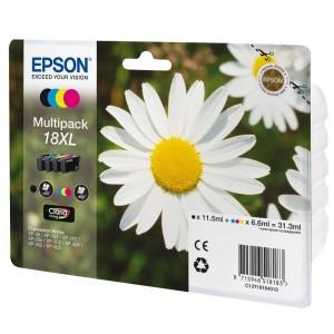 ORIGINAL EPSON 18XL MULTIPACK, para impresoras Expression Home XP-102, XP-202, XP-205, XP-30, XP-302 PARA LA IMPRESORA Epson Expression Home XP-405WH Tinteiros