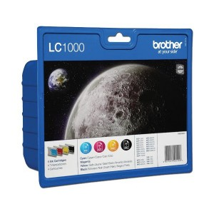 Brother LC-1000 Rainbow pack (4 colores) cartucho de tinta original. PARA LA IMPRESORA Brother DCP-330C Tinteiros