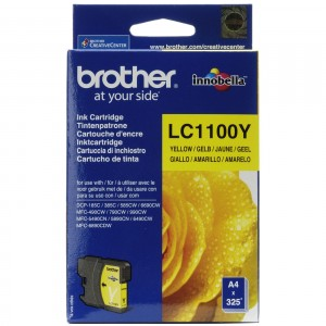 Brother LC1100 amarillo cartucho de tinta original. PARA LA IMPRESORA Brother DCP-J715W Tinteiros