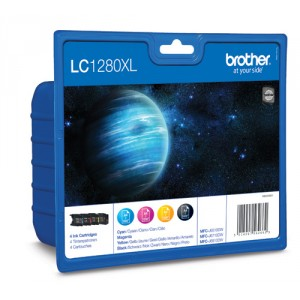 Brother LC1280XL Rainbow pack (4 colores) cartucho de tinta original alta capacidad. PARA LA IMPRESORA Brother MFC-J6710 Tinteiros