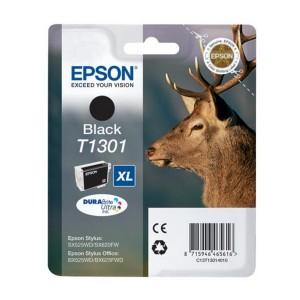 Cartucho EPSON T1301 NEGRO ORIGINAL PARA LA IMPRESORA Epson WorkForce WF-3010DW Tinteiros