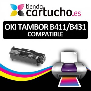Tambor OKI DR B411/B431 Compatible para impresoras OKI B411D, 411DN, 431D, 431DN PARA LA IMPRESORA OKI B411DN Toner