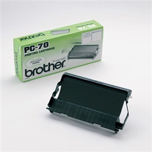 Brother PC-70 cinta de transferencia térmica original PARA LA IMPRESORA Brother Fax-T96 Fitas de Transferência