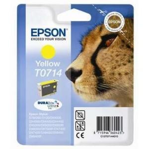 Cartucho EPSON 714 AMARILLO ORIGINAL PERTENENCIENTE A LA REFERENCIA Epson T0711/2/3/4 Tinteiros