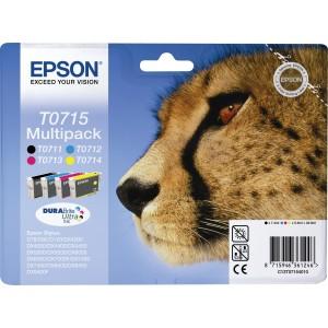 Cartuchos EPSON ORIGINAL 715 PACK NEGRO + COLORES PERTENENCIENTE A LA REFERENCIA Epson T0711/2/3/4 Tinteiros
