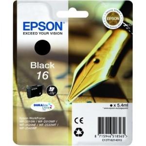 EPSON 16 NEGRO ORIGINAL ref. T1621 para impresoras Epson WorkForce WF-2010W, WF-2510, WF-2520NF,  WF-2530WF,  WF-2540WF PARA LA IMPRESORA Epson WorkForce WF-2660DWF Tinteiros