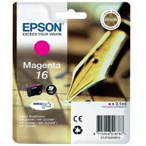 EPSON 16 MAGENTA ORIGINAL ref. T1623 para impresoras Epson WorkForce WF-2010W, WF-2510, WF-2520NF,  WF-2530WF,  WF-2540WF PARA LA IMPRESORA Epson WorkForce WF-2660DWF Tinteiros