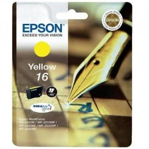 EPSON 16 AMARILLO ORIGINAL ref. T1624 para impresoras Epson WorkForce WF-2010W, WF-2510, WF-2520NF,  WF-2530WF,  WF-2540WF PARA LA IMPRESORA Epson WorkForce WF-2660DWF Tinteiros
