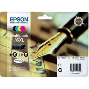 EPSON 16XL MULTIPACK Original ref. T1636 para impresoras Epson WorkForce WF-2010W, WF-2510, WF-2520NF,  WF-2530WF,  WF-2540WF PARA LA IMPRESORA Epson WorkForce WF-2660DWF Tinteiros