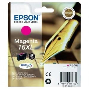 EPSON 16XL MAGENTA ORIGINAL ref. T1633 para impresoras Epson WorkForce WF-2010W, WF-2510, WF-2520NF,  WF-2530WF,  WF-2540WF PARA LA IMPRESORA Epson WorkForce WF-2660DWF Tinteiros