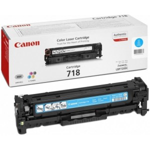 Canon 718C toner cian original, referencia Canon 2661B002AA PARA LA IMPRESORA Canon I-Sensys LBP 7200 Toner