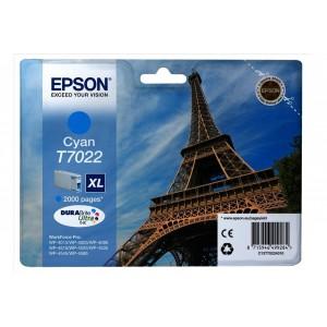 EPSON ORIGINAL T7022 CYAN PERTENENCIENTE A LA REFERENCIA Epson T7011/2/3/4 Tinteiros