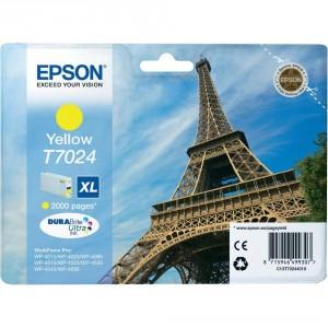 EPSON ORIGINAL T7024 AMARILLO PERTENENCIENTE A LA REFERENCIA Epson T7011/2/3/4 Tinteiros
