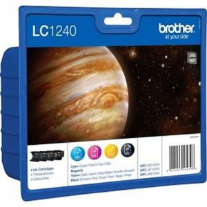Brother LC-1240 Rainbow pack (4 colores) cartucho de tinta original. PARA LA IMPRESORA Brother MFC-J6710 Tinteiros