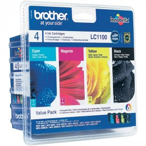 Brother LC1100 Rainbow pack (4 colores) cartucho de tinta original. PARA LA IMPRESORA Brother DCP-383C Tinteiros