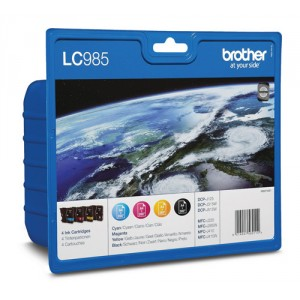 Brother LC985 Rainbow pack (4 colores) cartucho de tinta original. PARA LA IMPRESORA Brother DCP-J140W Tinteiros