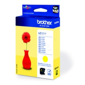 Brother LC121 amarillo cartucho de tinta original. PARA LA IMPRESORA Brother DCP-J132W Tinteiros