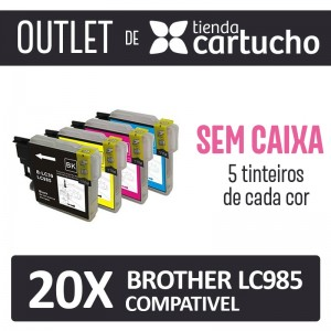 Outlet - Pack 8 Tinteiros Compativels Brother Lc985 Sin Caja PARA LA IMPRESORA Brother DCP-J140W Tinteiros